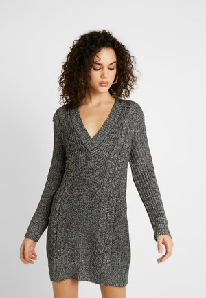 CABLE DRESS - Shift dress - silver