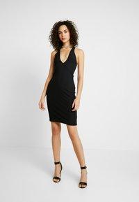 Ivyrevel - CROSS FRONT DRESS - Kjole - black - 2