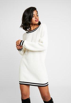DRESS - Strikket kjole - white/black