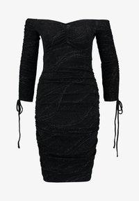 Ivyrevel - OFF SHOULDER SCRUNCH DRESS - Fodralklänning - black - 4