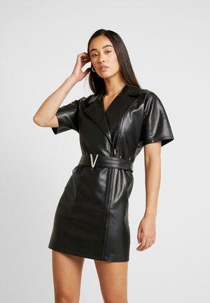 BELTED DRESS - Korte jurk - black
