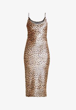 BODYCON DRESS - Denní šaty - black/brown