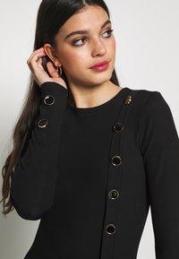 Ivyrevel - BUTTON UP DRESS - Pouzdrové šaty - black - 4