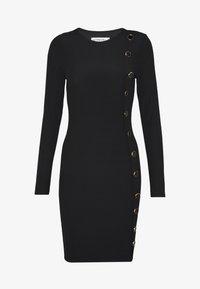 Ivyrevel - BUTTON UP DRESS - Pouzdrové šaty - black - 3