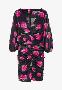 Ivyrevel - FLORALFRONT GATHERED DRESS - Tubino - black - 4