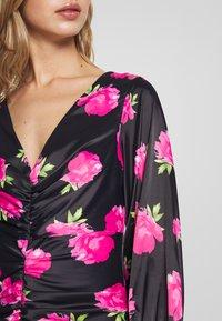Ivyrevel - FLORALFRONT GATHERED DRESS - Tubino - black - 5
