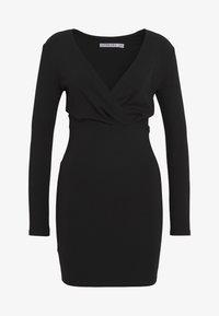 Ivyrevel - SLIM FIT MINI DRESS - Pouzdrové šaty - black - 3