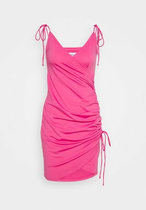 SIDE DRAPE DRESS - Day dress - pink