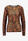 Ivyrevel - LONG SLEEVE - Long sleeved top - black/orange