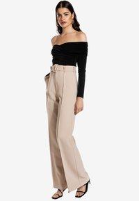 Ivyrevel - CROSS FRONT  - Långärmad tröja - black - 1