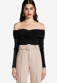 Ivyrevel - CROSS FRONT  - Långärmad tröja - black - 0