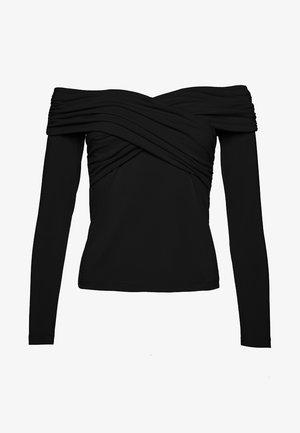 CROSS FRONT  - Langarmshirt - black