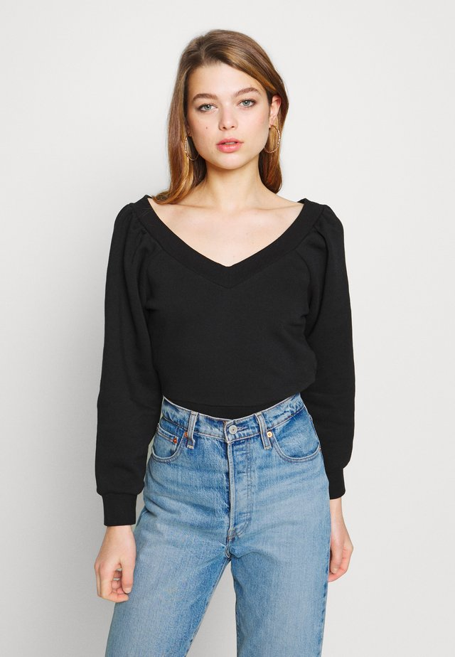OFF SHOULDER - Mikina - black