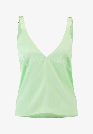 D RING SHOULDER - Blouse - pastel green