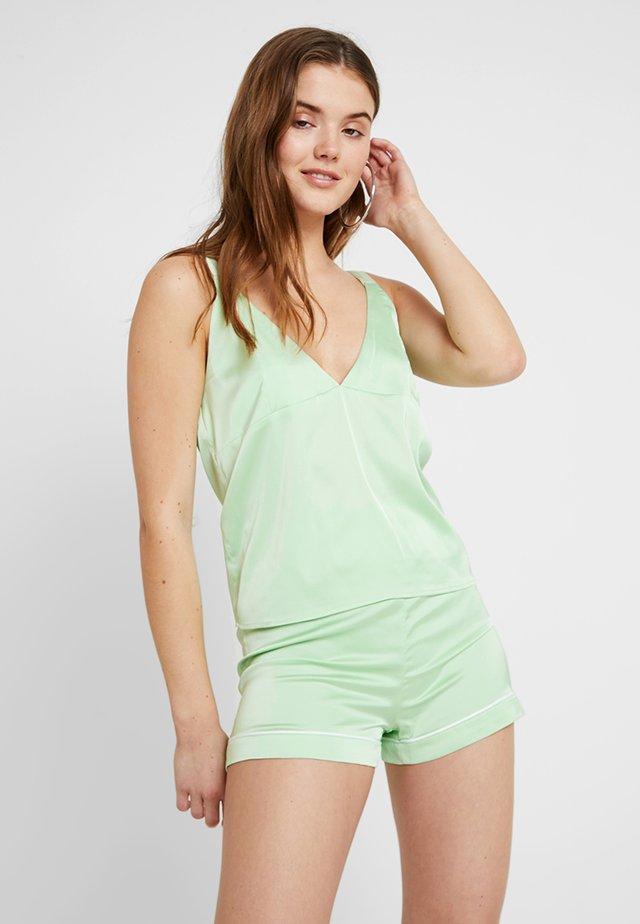 D RING SHOULDER - Blus - pastel green