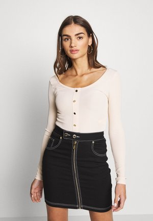 SCOOP NECK - Topper langermet - natural