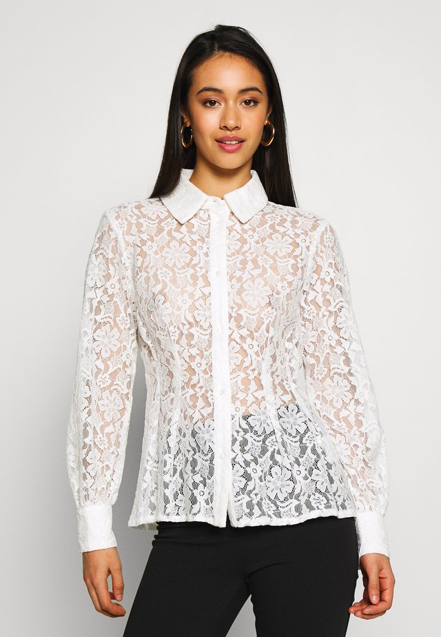 BLOUSE - Button-down blouse - offwhite