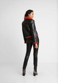 Ivyrevel - JACKET - Faux leather jacket - black/burnt red - 2