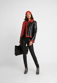 Ivyrevel - JACKET - Faux leather jacket - black/burnt red - 1