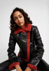 Ivyrevel - JACKET - Faux leather jacket - black/burnt red - 3