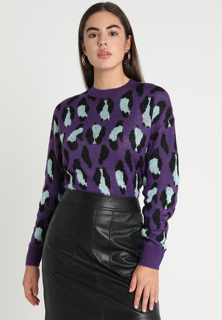 Ivyrevel - BAT SLEEVE - Stickad tröja - purple/light blue/black
