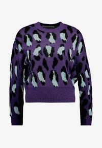 Ivyrevel - BAT SLEEVE - Stickad tröja - purple/light blue/black - 3