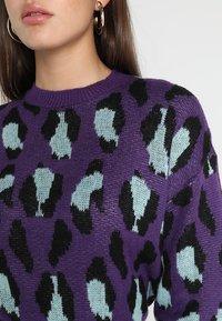 Ivyrevel - BAT SLEEVE - Stickad tröja - purple/light blue/black - 4