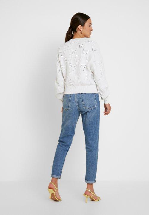 ekonomiczny Ivyrevel BALLOON SLEEVE - Sweter - optical white Odzież Damska UNQG-JD8