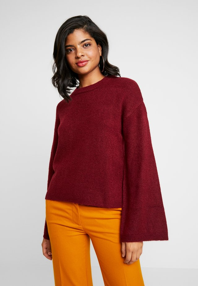 FLARED SLEEVE - Maglione - burgundy