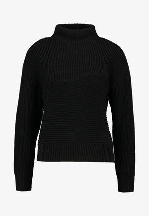 HALF NECK - Strikkegenser - black