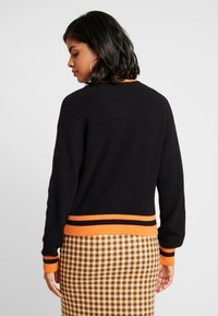Ivyrevel - CARDIGAN - Kofta - black/orange - 2