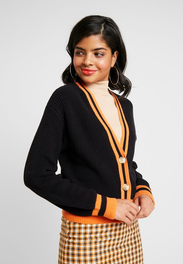 CARDIGAN - Kofta - black/orange