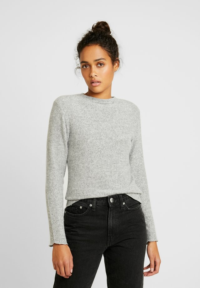 SOFT - Stickad tröja - light grey melage