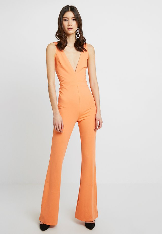 V NECK FLARED - Overall / Jumpsuit - orange