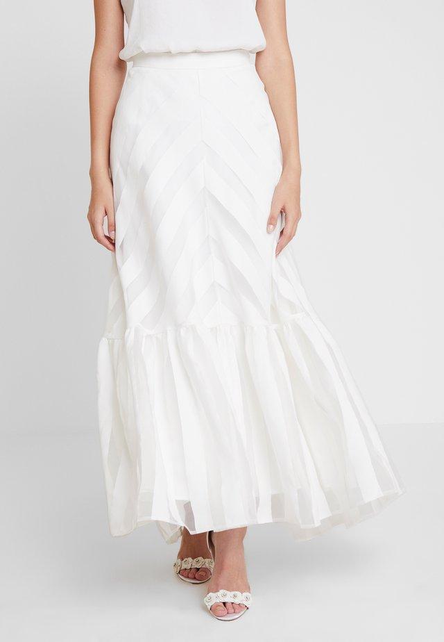 VOLANT SKIRT - Maxi skirt - snow white