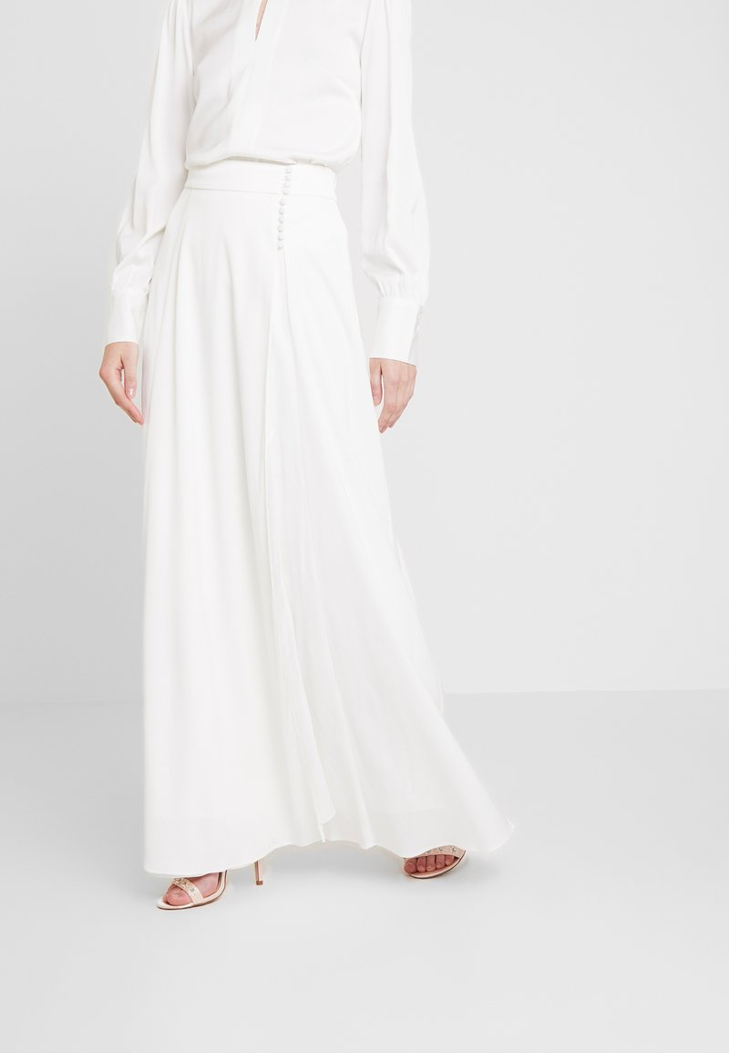 IVY & OAK BRIDAL - BRIDAL SKIRT WITH BUTTONS LONG - Maxi sukně - snow white
