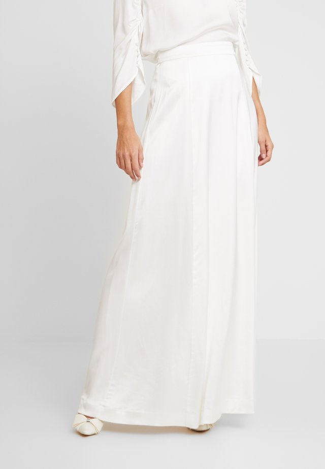 BRIDAL SKIRT LONG - Maxi skirt - snow white