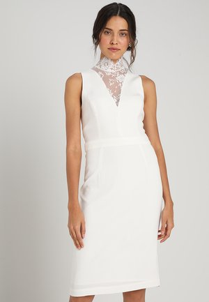 DEEP V NECK BRIDAL DRESS - Robe de soirée - snow white