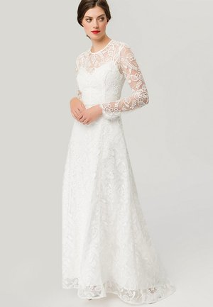 EMBROIDERED BRIDAL DRESS - Iltapuku - snow white