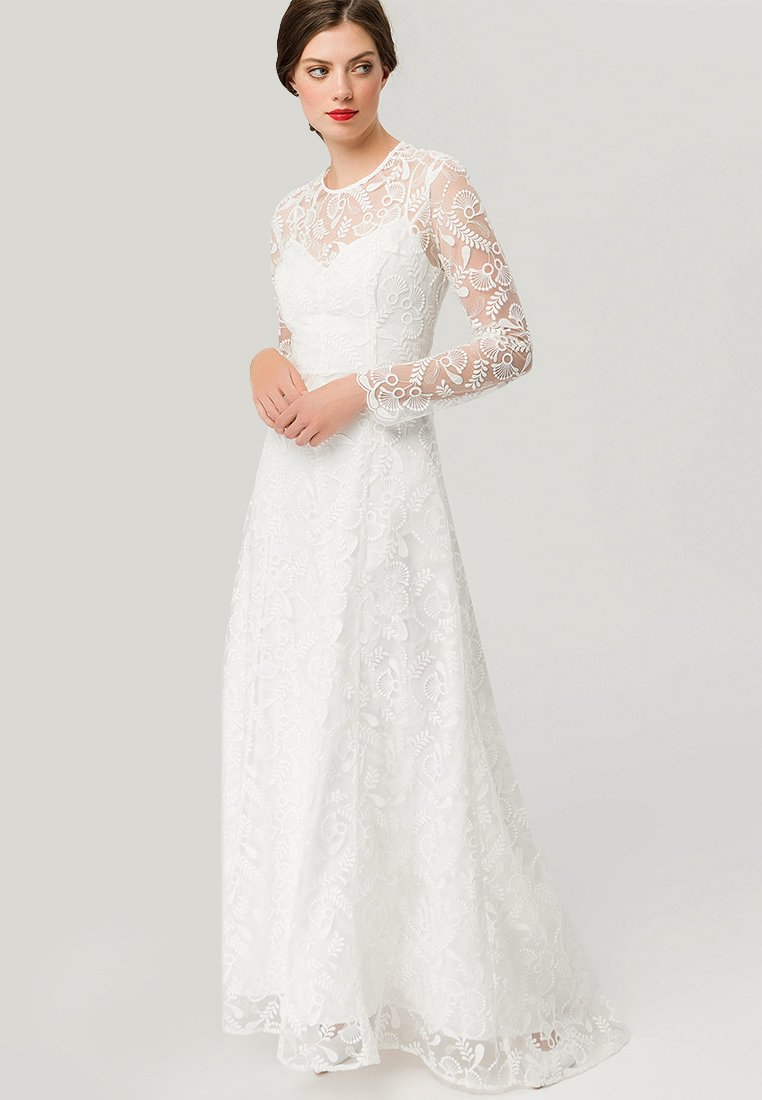 IVY & OAK BRIDAL - EMBROIDERED BRIDAL DRESS - Společenské šaty - snow white