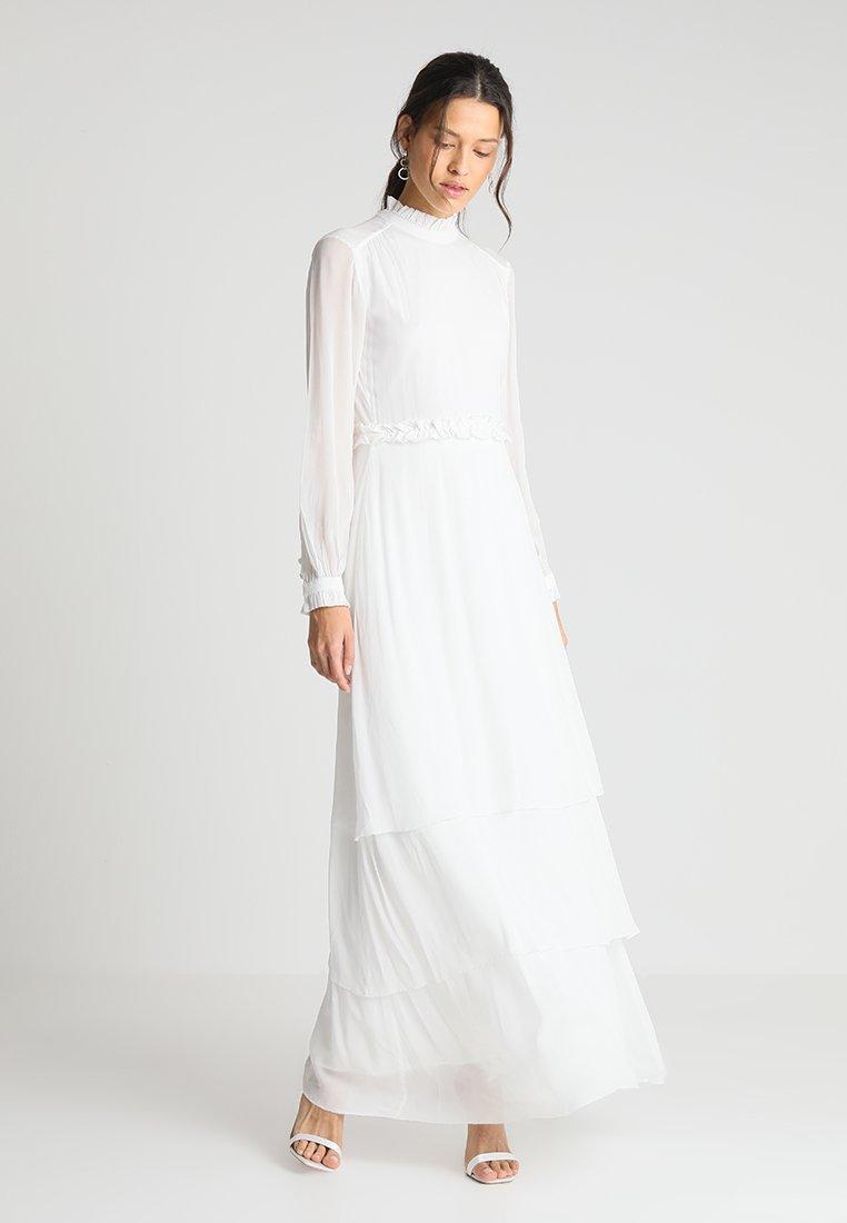 IVY & OAK BRIDAL - RUFFLED COLLAR MAXI DRESS BRIDAL - Suknia balowa - snow white