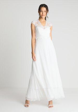 LONG PATCH BRIDAL DRESS - Vestido de fiesta - snow white