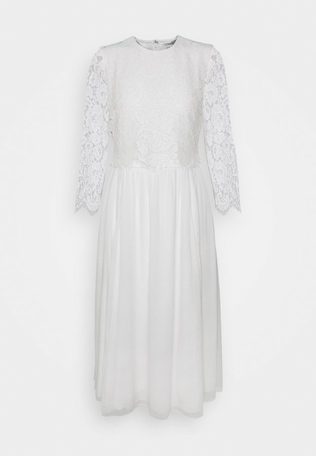 BRIDAL 2IN1 DRESS MIDI - Galajurk - snow white