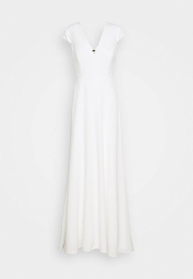 BRIDAL CAP SLEEVE DRESS - Ballkleid - snow white