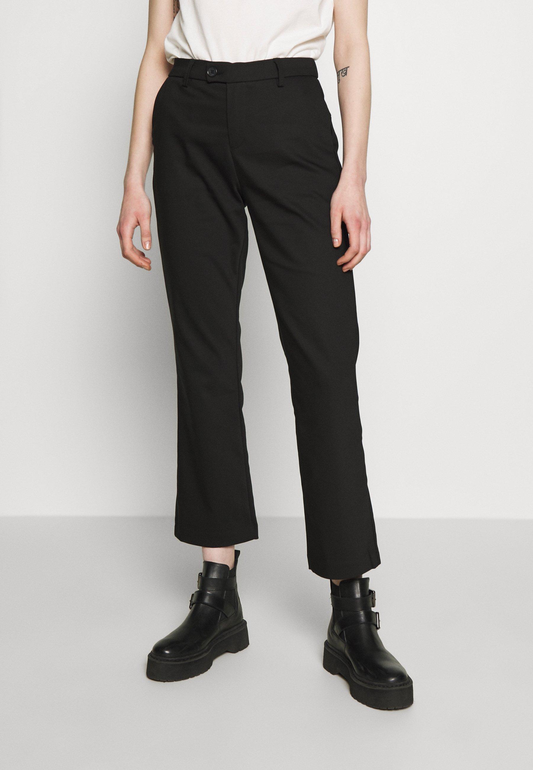 Ivy Copenhagen ALICE CROPPED FLARE PANT - Spodnie materiałowe - black