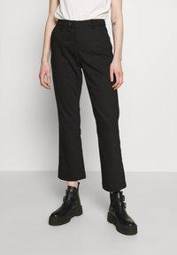 Ivy Copenhagen - ALICE CROPPED FLARE PANT - Bukser - black - 0