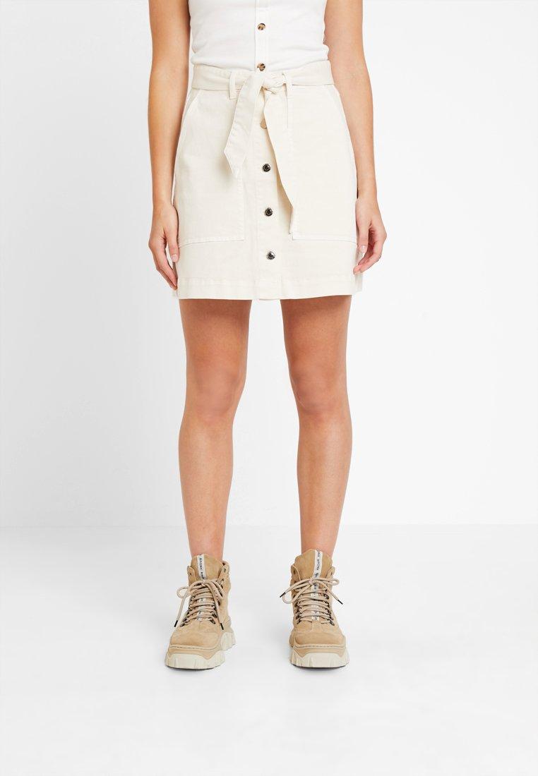 Ivy Copenhagen - FREJA WORKER SKIRT - A-line skirt - ecru