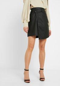 Ivy Copenhagen - KATE ASYM SKIRT - Áčková sukně - black - 0