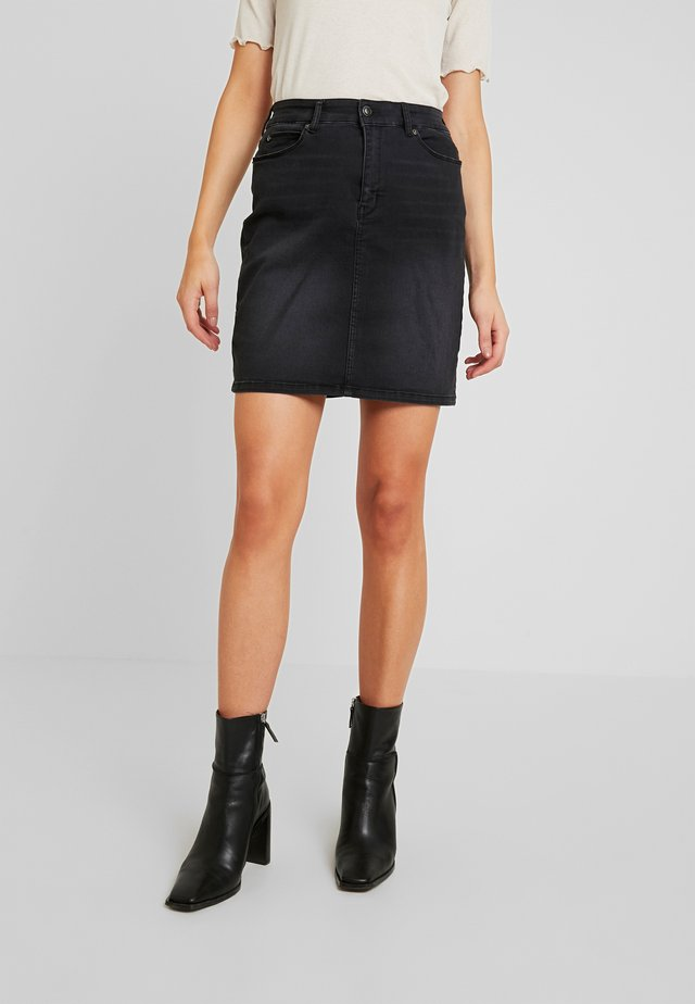 ROSIE SKIRT COOL - Jeansrock - black