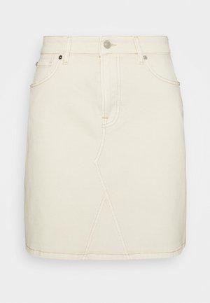 ANGIE SKIRT WASH - Mini skirt - ecru